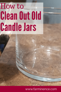 clean out candle jars