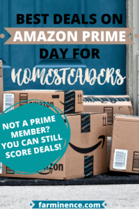 amazon prime day deals for homesteading, gardening, livestock, and farming