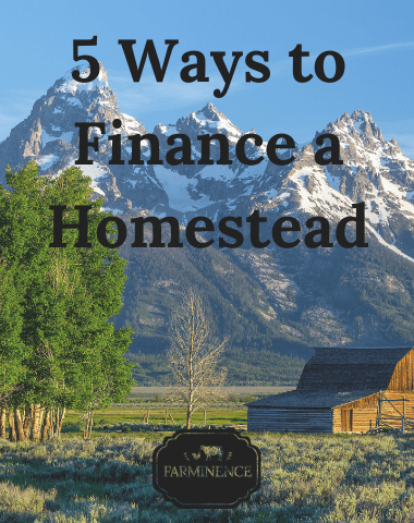 paying for and owning a homestead, how to finance a homestead