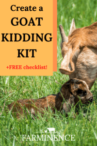 goat kidding kit, goat kidding supplies