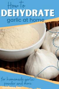 how to dehydrate garlic, homemade garlic powder, homemade garlic salt