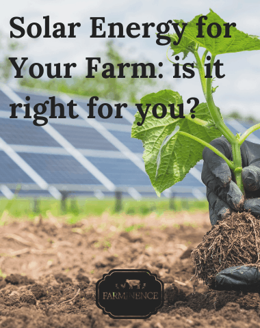 solar power on farms, using solar panels on farm